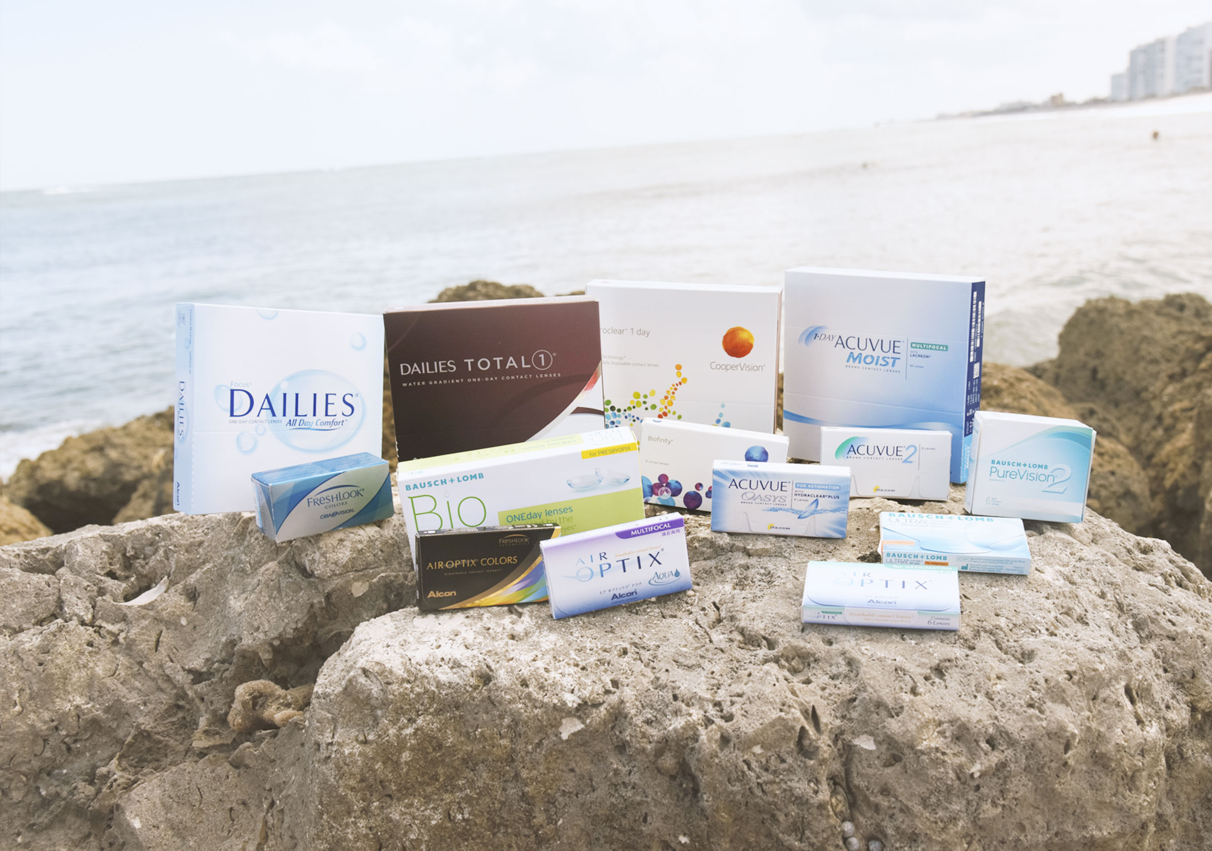 Brands of Contact Lenses Product Shoot