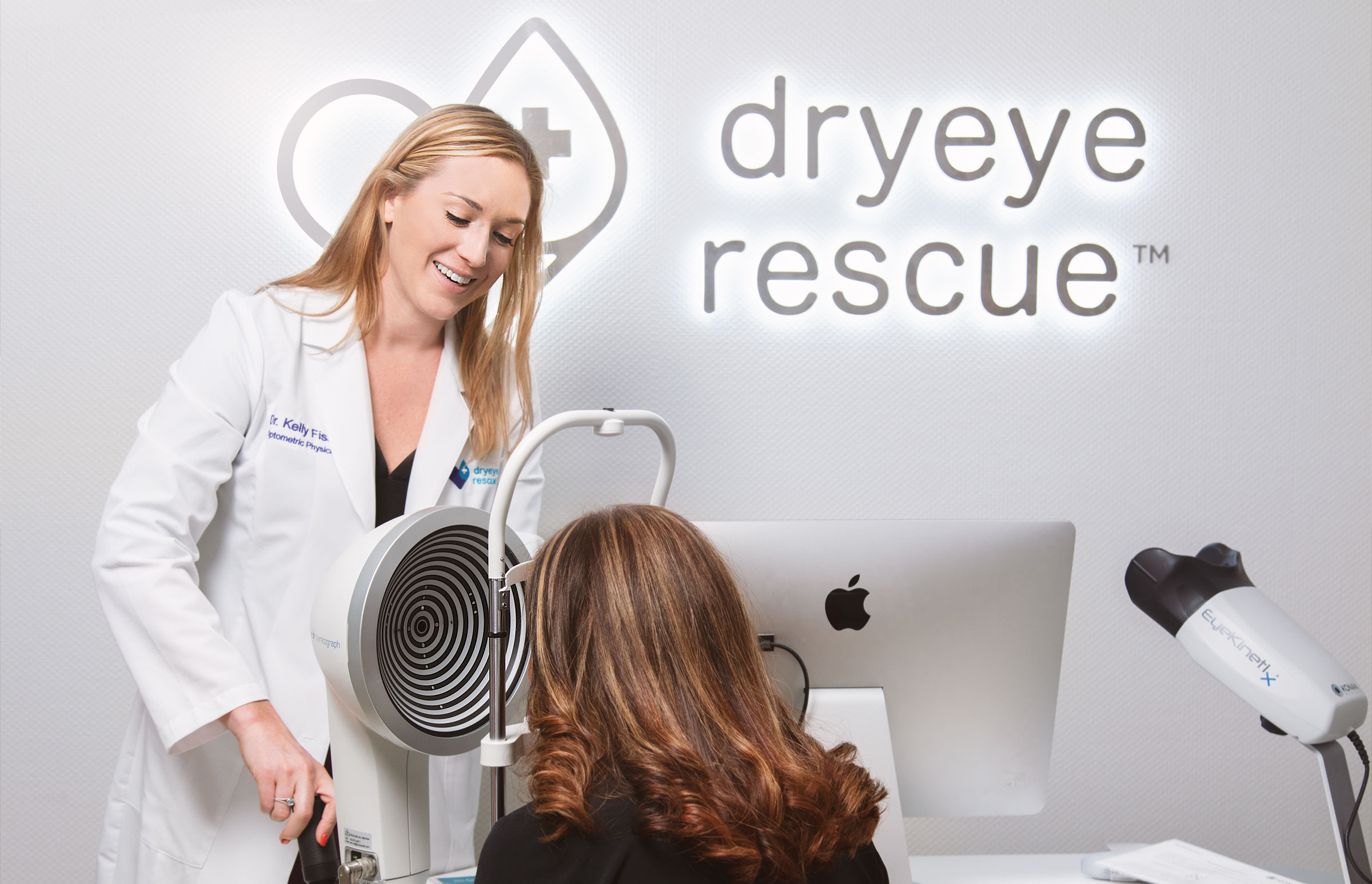 Dr. Kelly Fisher with a Dry Eye Patient